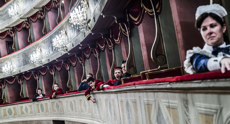 prove del Don Pasquale al Teatro Donizetti